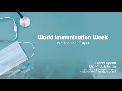 Dr. P. D. Bhutia speaks on the importance of vaccination on World Immunization Week, 2020